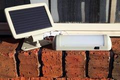 Solar powered lamp charging Royalty Free Stock Photos