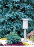 Solar Powered Lamp on Garden Background. Royalty Free Stock Photography