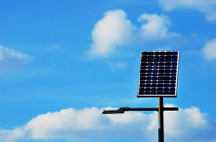 Solar powered lamp post Royalty Free Stock Image