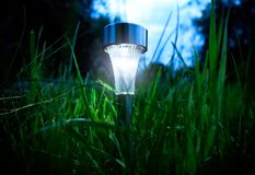 Solar Powered Lamp Stock Photos
