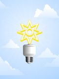 Solar powered lightbulb Royalty Free Stock Photos