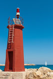 Solar powered lighthouse Stock Image