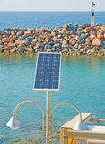 Solar powered lighting system. Stock Image