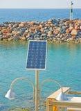 Solar powered lighting system. Stock Image