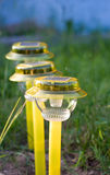Solar-powered lights stock images