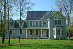 SOLAR-POWERED NEW HOME Stock Images