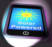 Solar Powered On Phone Displays Alternative Energy And Sunlight Stock Photography