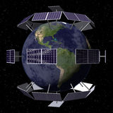 Solar Powered Planet Stock Images