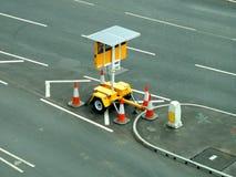 Solar powered portable street sign Royalty Free Stock Photos