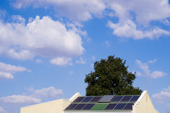 Solar Powered Roof Royalty Free Stock Photo
