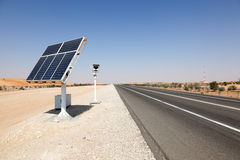 Solar powered speed control camera Royalty Free Stock Image