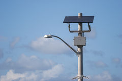 Solar powered street lamp Stock Images