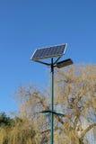 Solar powered street lamp Royalty Free Stock Photos