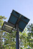 Solar powered street light Royalty Free Stock Photo