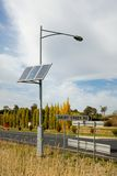 A Solar-Powered Street Light Royalty Free Stock Images
