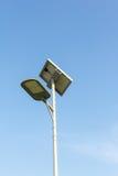 Spotlight. Solar powered street light with blue sky royalty free stock image
