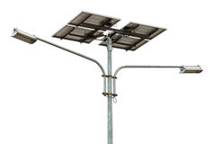 Solar powered street light Royalty Free Stock Photos