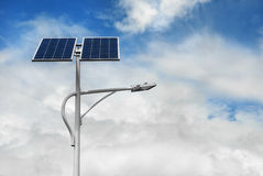 Solar powered street light Royalty Free Stock Image