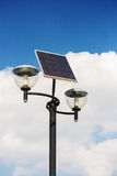 Solar powered street lights Stock Images