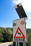 Solar Powered street sign. Royalty Free Stock Image