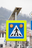 Solar powered street sign Royalty Free Stock Image