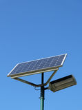 Solar powered streetlamp Stock Photography
