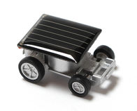 Solar powered toy car. Homemade toy Royalty Free Stock Photo