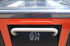 Solar-Powered Trash Compactor Stock Photography
