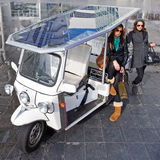 Solar powered tuc tuc Stock Photos