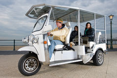 Solar powered tuc tuc at the beach Stock Photography