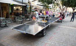 Solar powered vehicles. Royalty Free Stock Photography