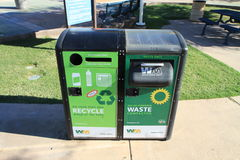 Solar-powered waste compactor Royalty Free Stock Images