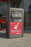 Solar powered waste compactor Stock Images