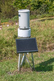Solar powered weather station Royalty Free Stock Images
