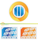Solar project 4. Vector solar photovoltaic project set  4 Royalty Free Stock Image