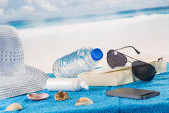 Solar protection kit  still life Royalty Free Stock Photography