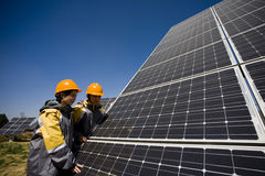 Solar publicity Royalty Free Stock Image