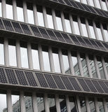 Solar PV Panels Mounted On Building Facade Royalty Free Stock Photography