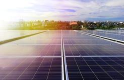Solar PV Rooftop Beautiful Sunlight Stock Photos