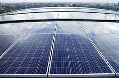 Solar PV Rooftop Cloud Reflect Royalty Free Stock Photography