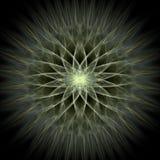 Solar radiance. Light airy radiating kaleidoscopic fractal Stock Photo