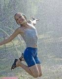 Solar rain Royalty Free Stock Photography