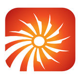 Sun Solar rays logo Stock Photo