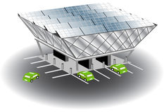 Solar Recharging Station Stock Images