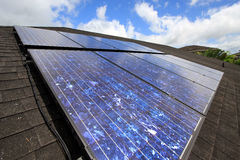 Solar residencial imagenes de archivo