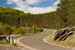 Solar road. Along lake coast Stock Images
