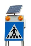 Solar road sign Royalty Free Stock Photos