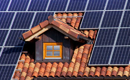 Solar roof stock photography