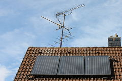 Solar roof with antenna Stock Images