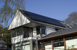 Solar roof house Stock Photos